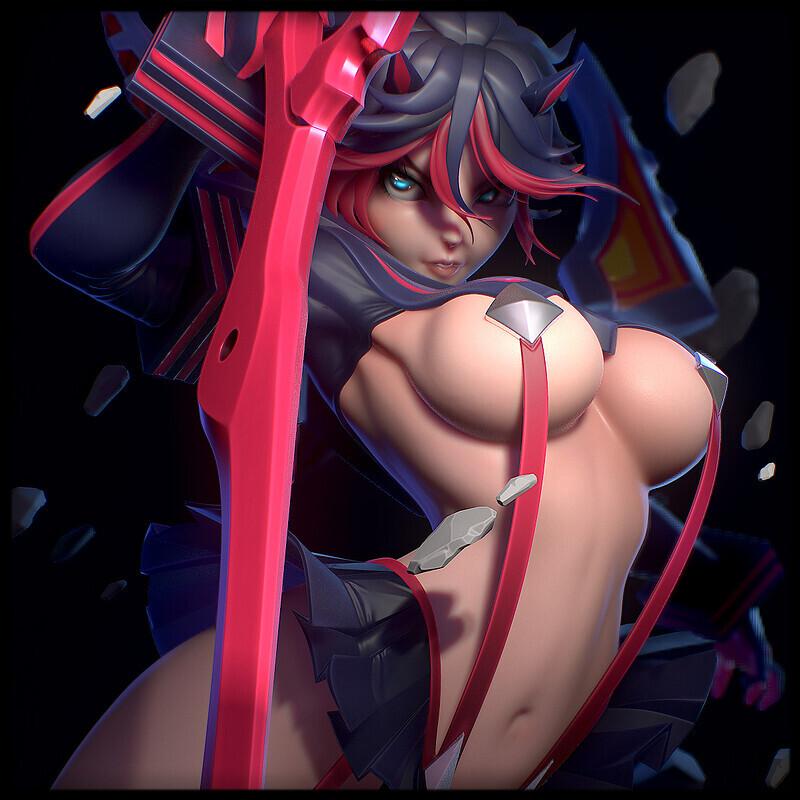 Ryuko Matoi (Based on Illustration by Jimbobox)