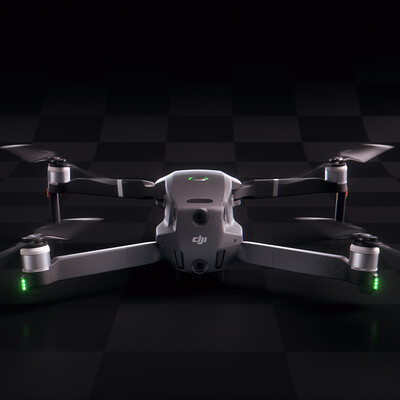 DJI Mavic 2 Pro 3D Model and Rig