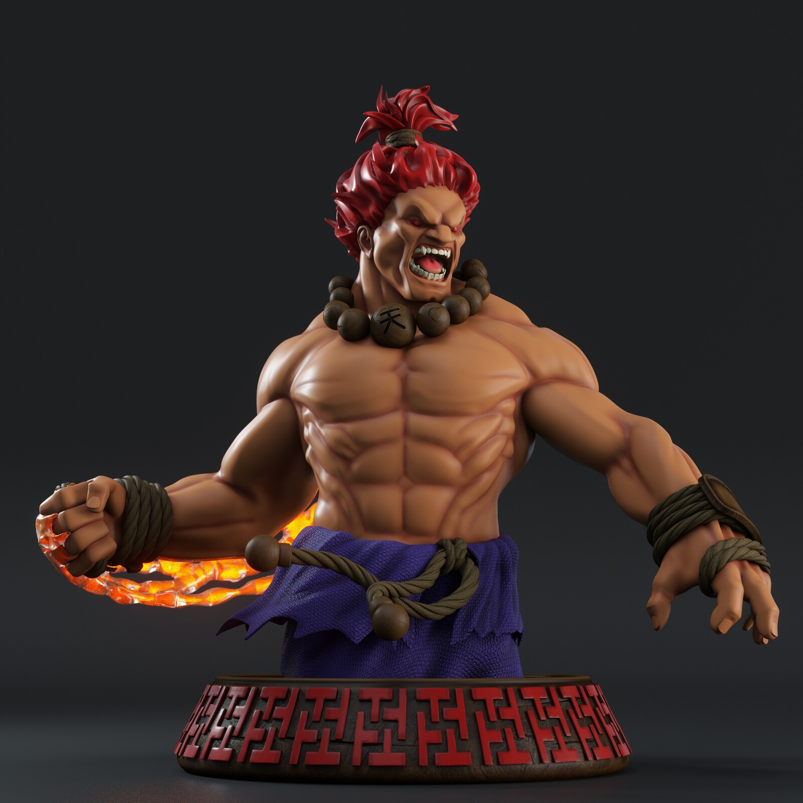 Street Fighter Akuma Bust Statue