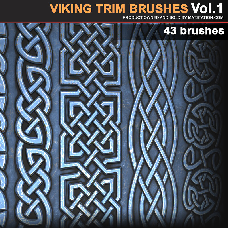 Viking Trim brushes/alphas. VOL1