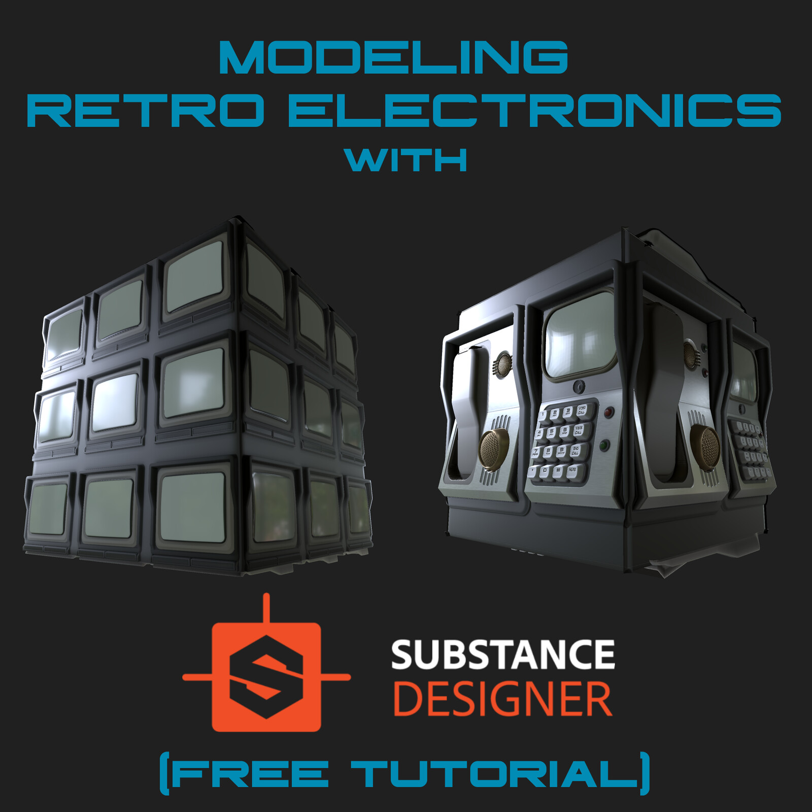 Substance Designer Tutorial - Modeling Retro Electronics