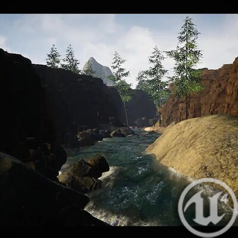 Unreal Project | Environment Canyon | WIP