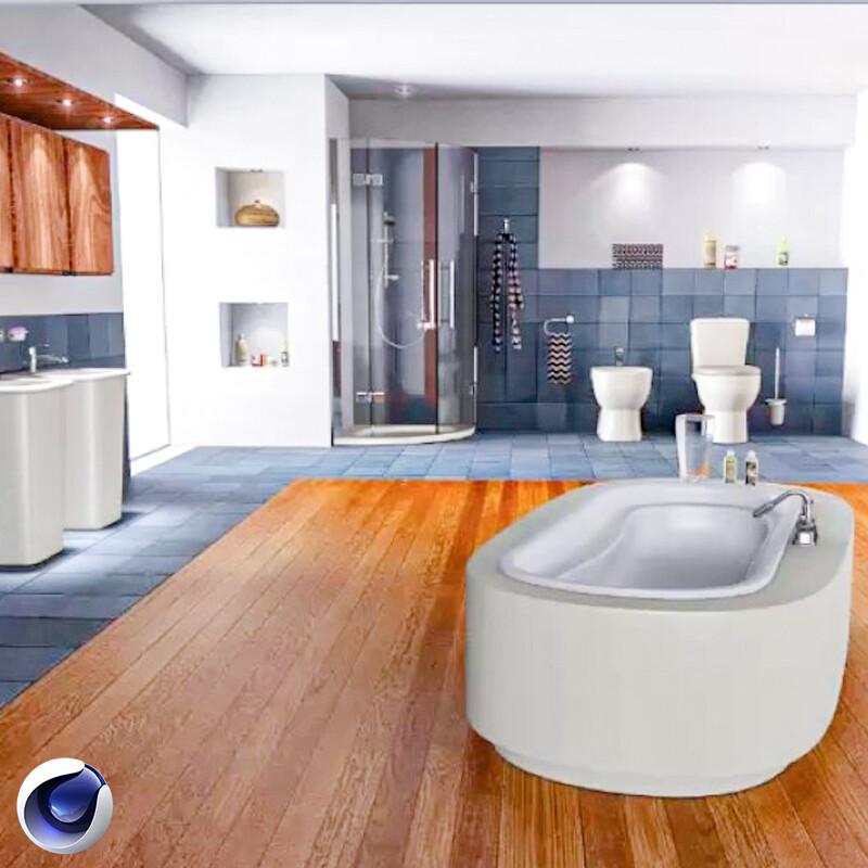 دورة تصميم داخلي حمام غربي