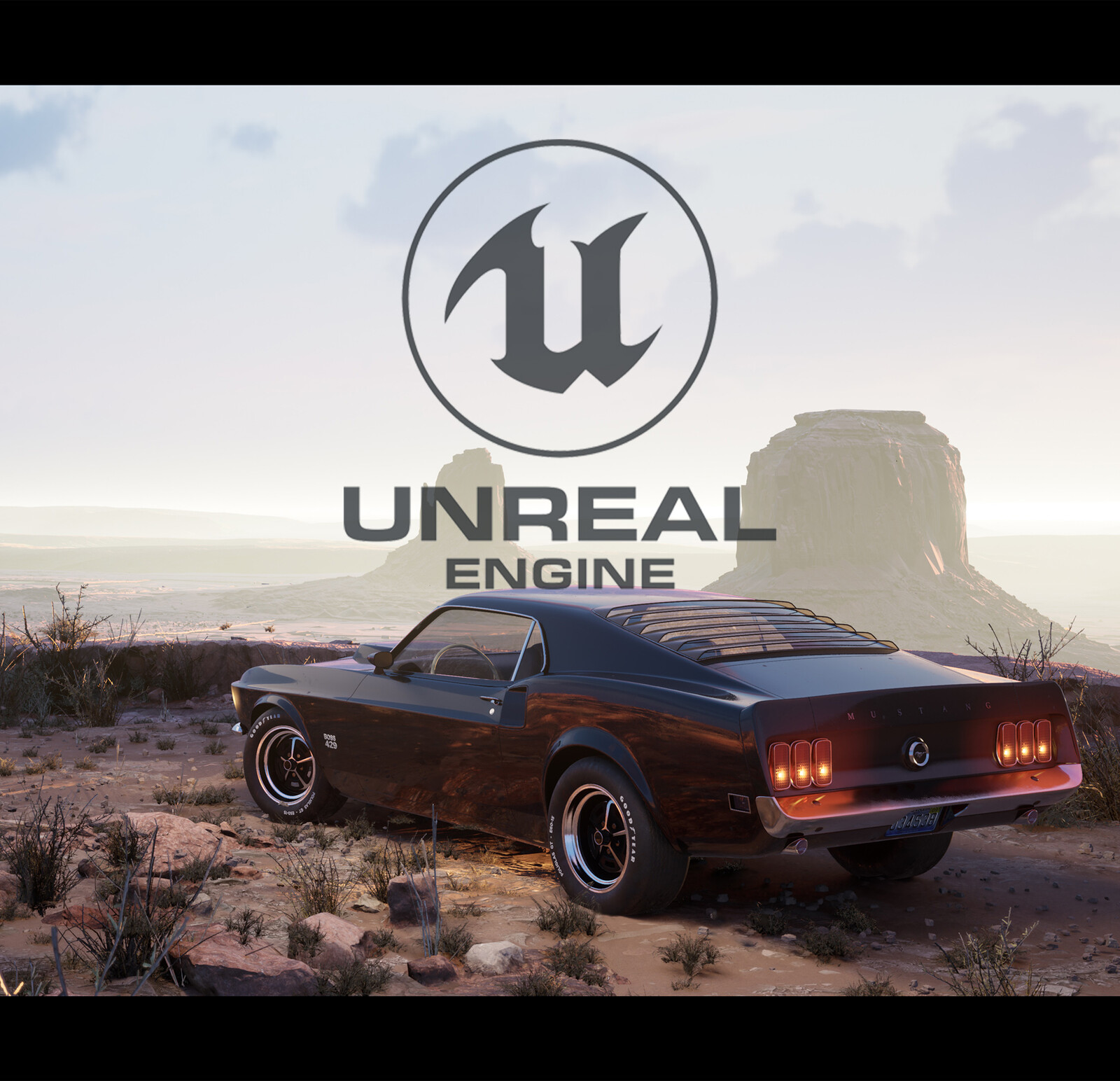 Unreal Engine - Mustang 429 at Monument Valley