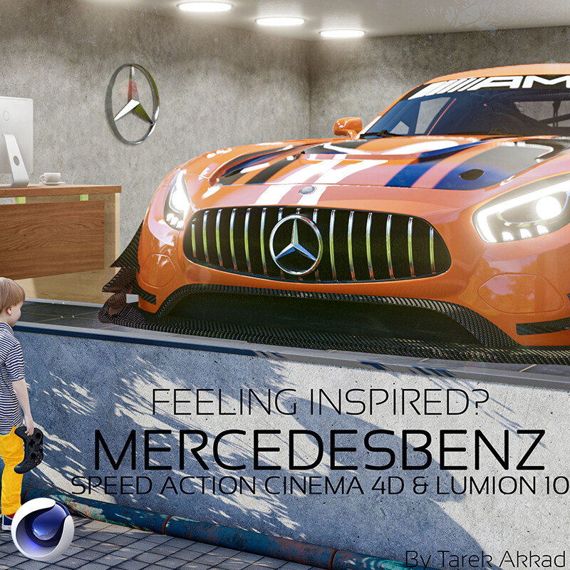 Feeling Inspired? - Mercedes Benz from sketch work to 3D