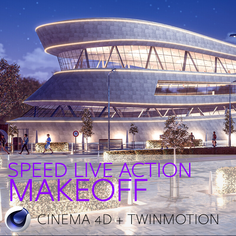 3D Architecture Mall Concept #03 Speed Live Action Make Off