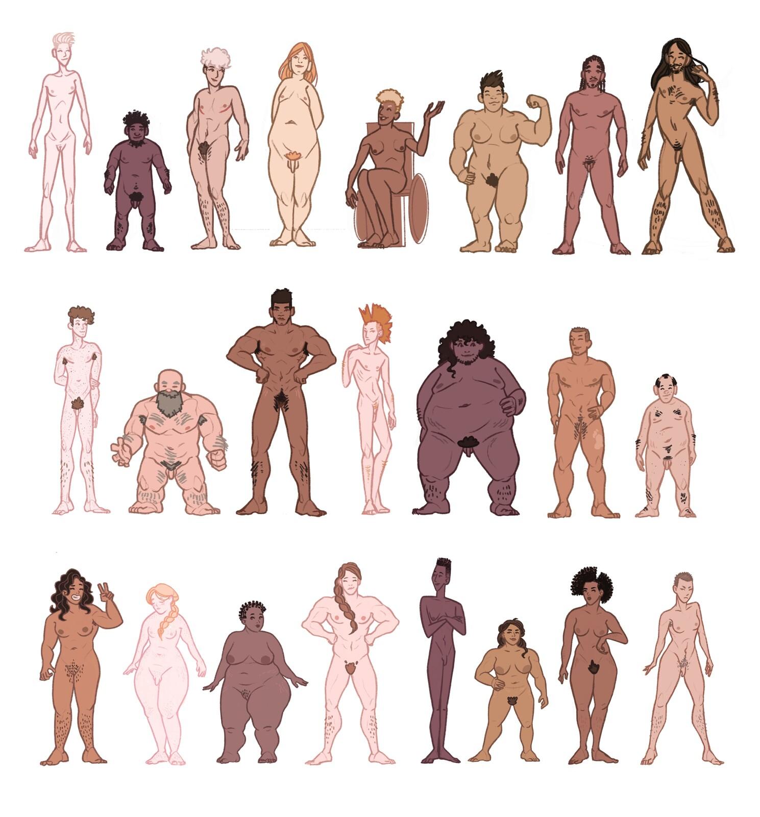 Humans - Character design warmup