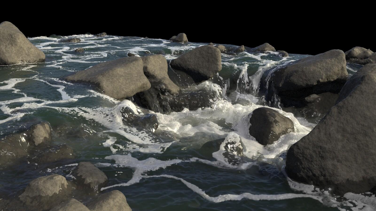 Rapids - Pre-Rendered Simulation