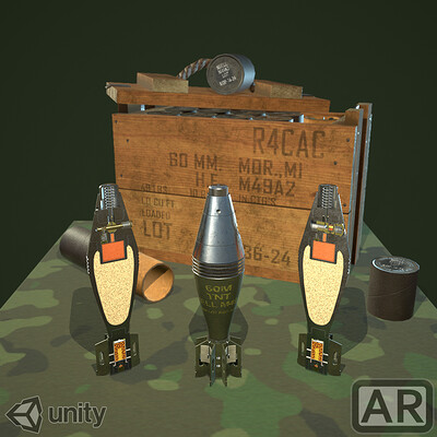 M49A2 Mortar Shell -  AR
