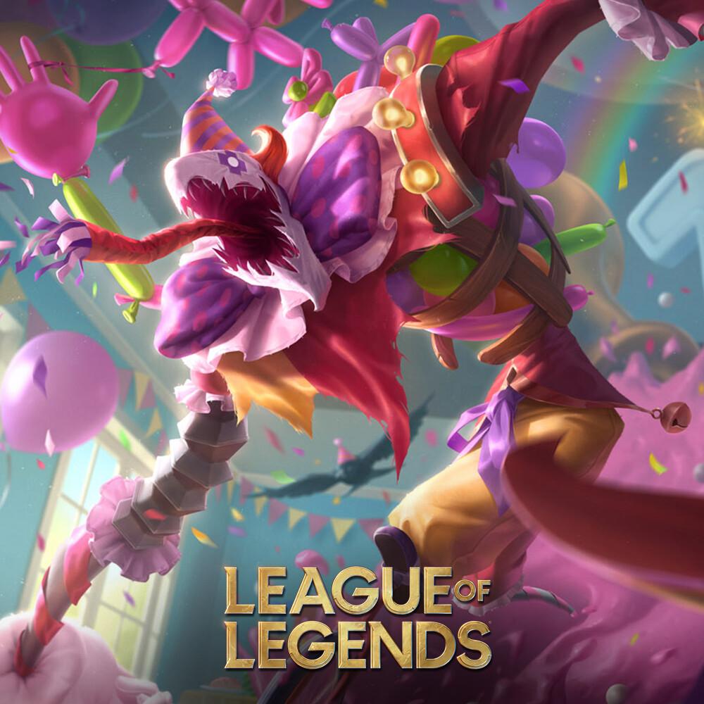 Surprise Party - Fiddlesticks - Splash art League of Legends