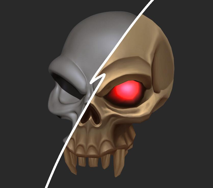 3D Orc Skull