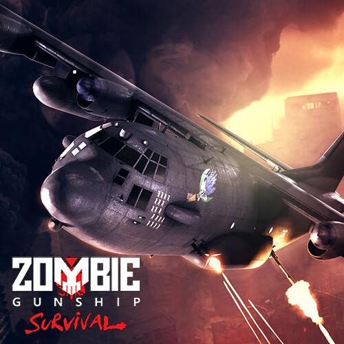 Zombie Gunship Survival Key Art