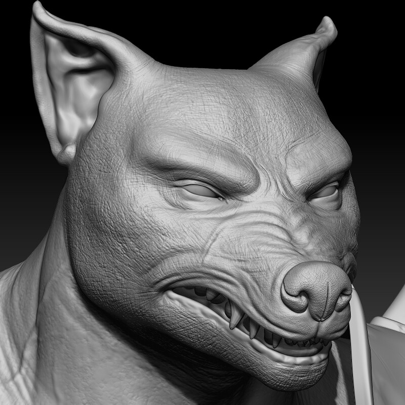 Were-Wolf: WIP details and clothing retopology revised ✔️