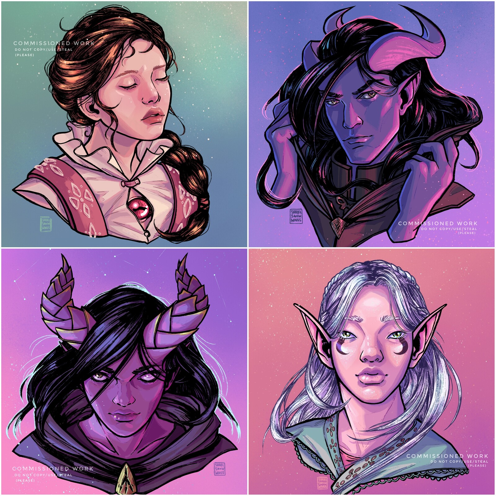 D&D Portraits (Commissioned Work)