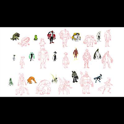 Ben 10 Alien Sketches