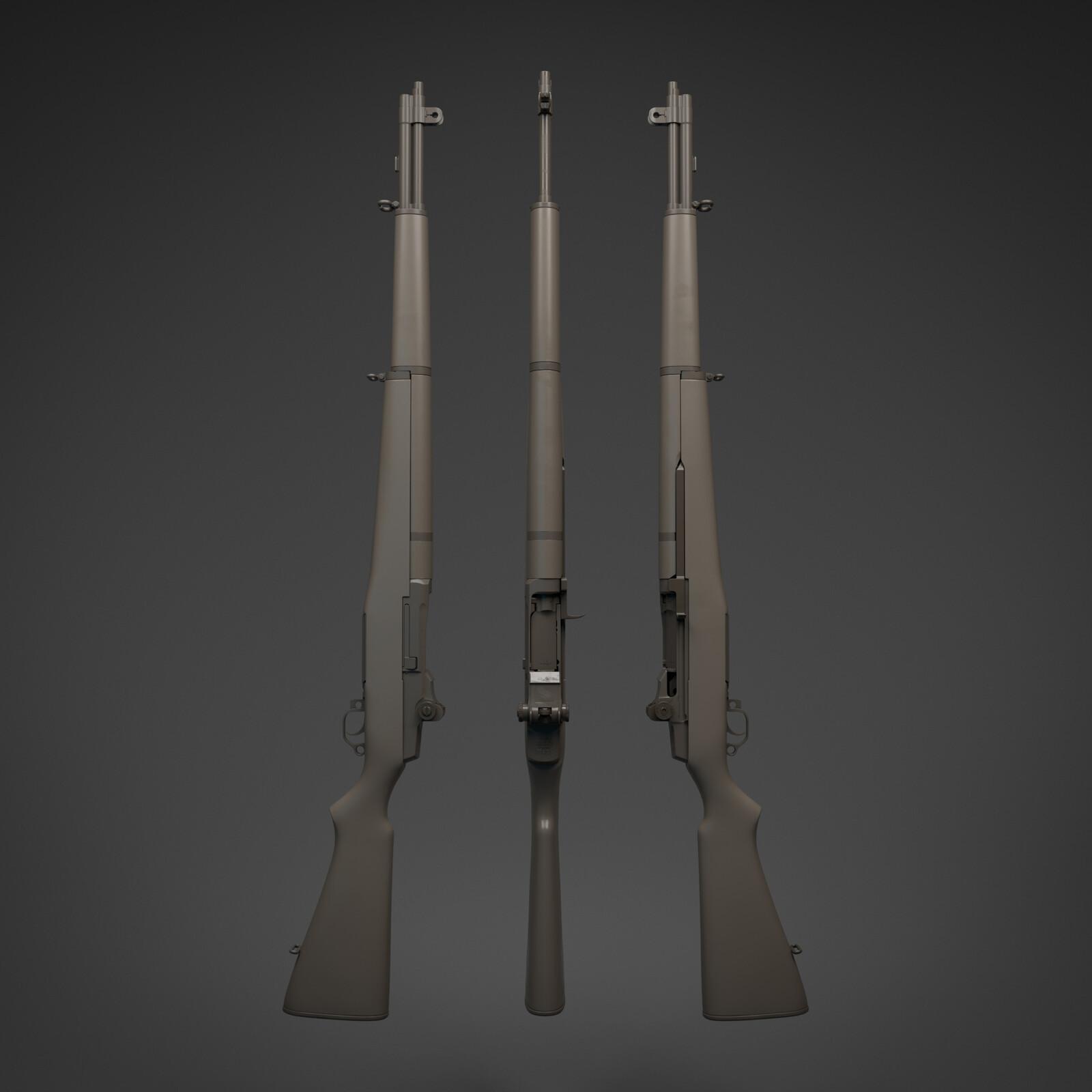 M1 Garand High Poly