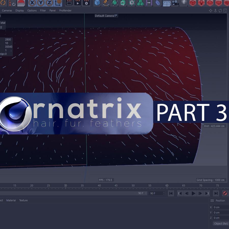 Ornatrix Cinema 4d tutorial. Part 3. Edit guides modifier.