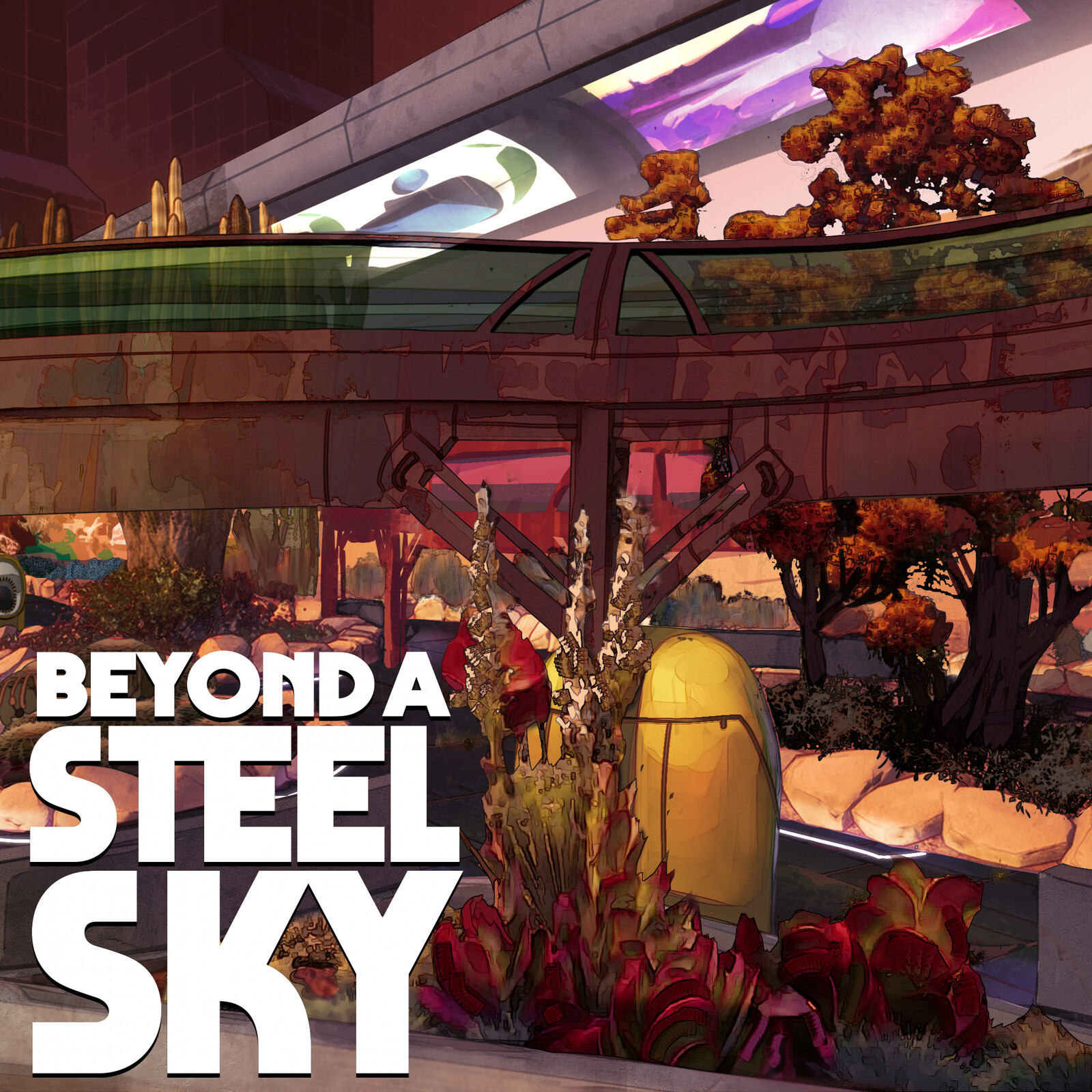 BEYOND A STEEL SKY: Garden area