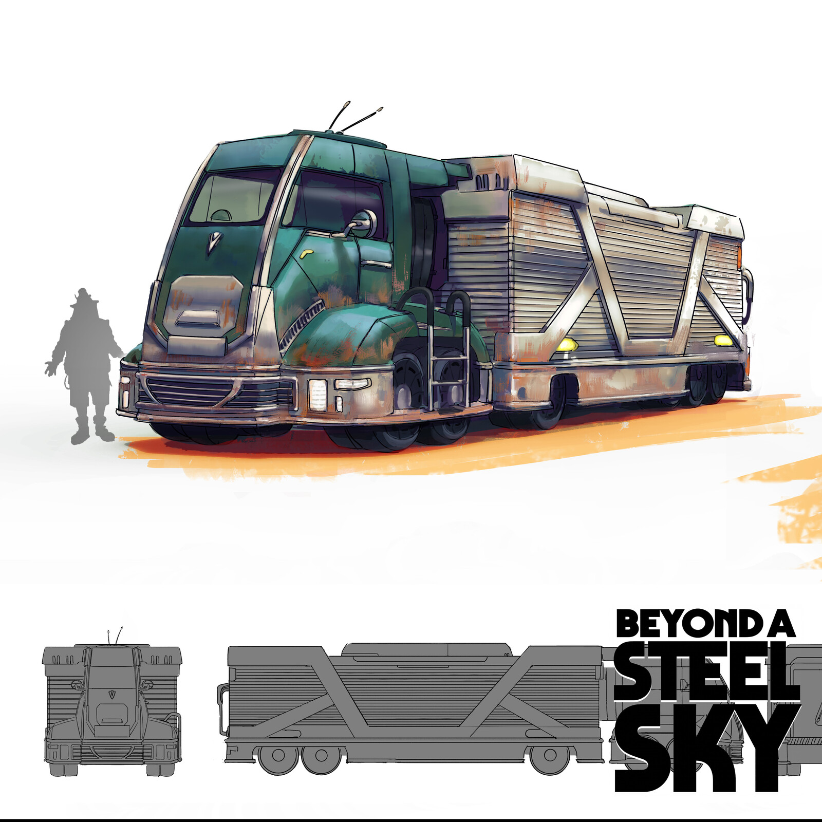 BEYOND A STEEL SKY: Wendell's truck