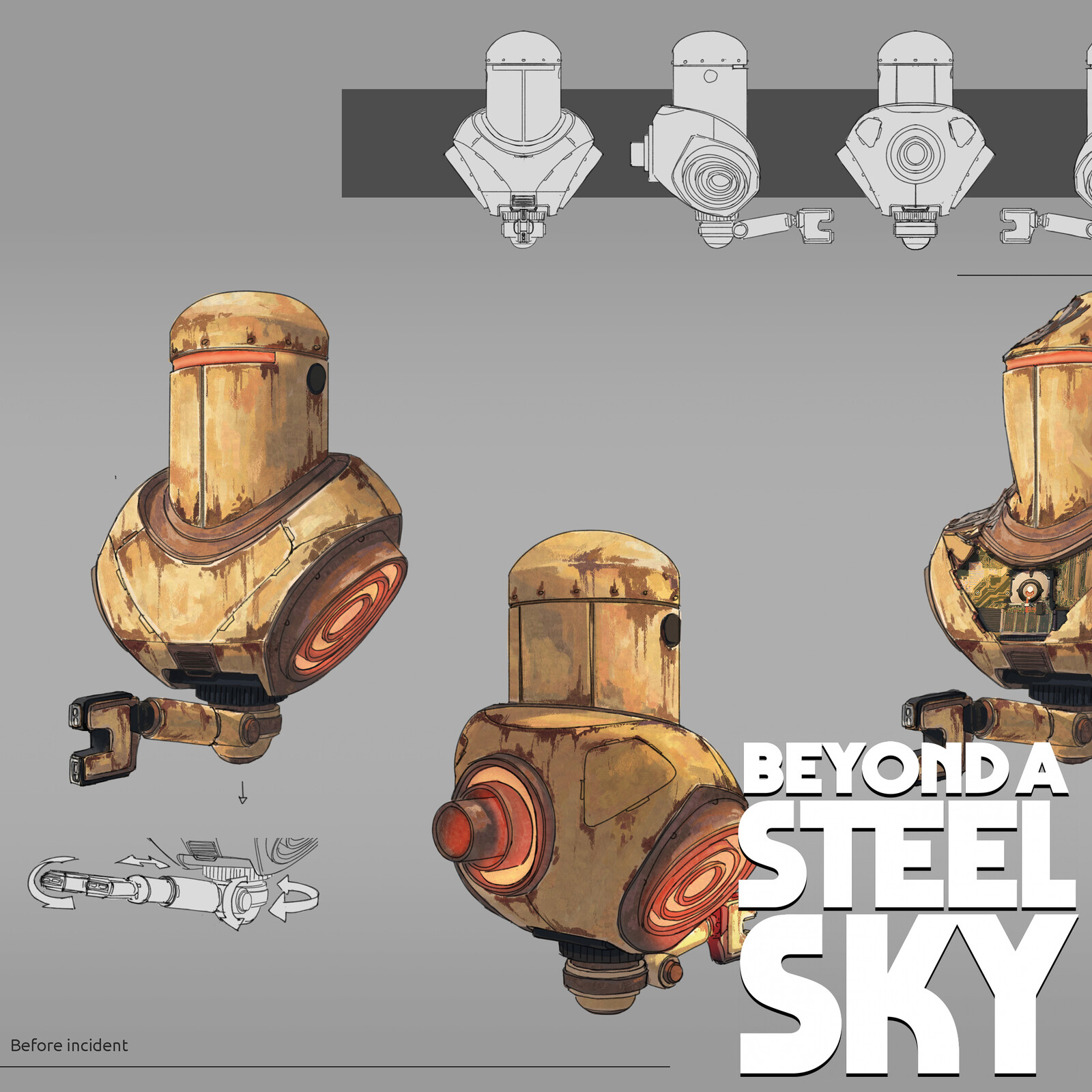BEYOND A STEEL SKY: Joey Shell Security Droid