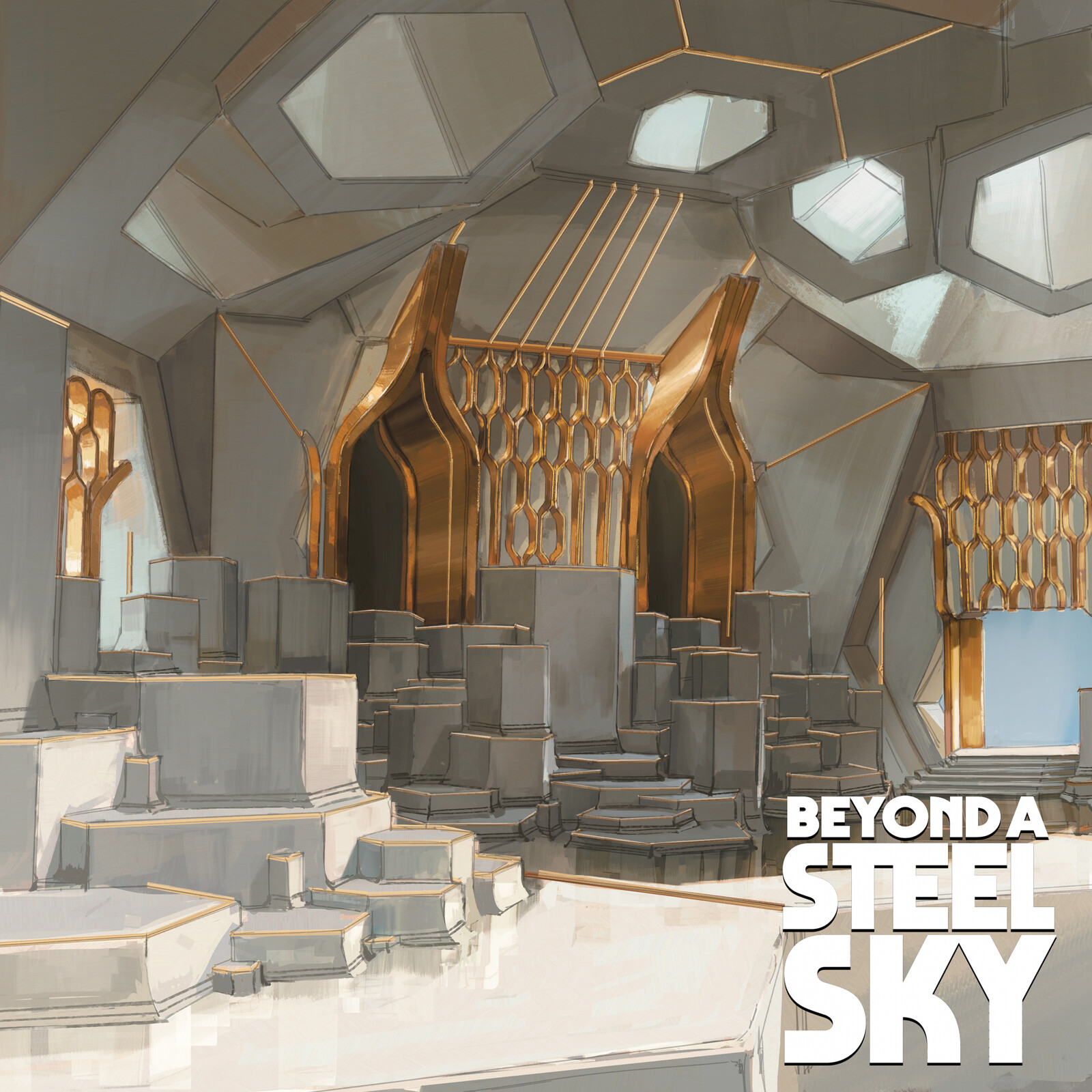 BEYOND A STEEL SKY: Citadel and Council Chamber