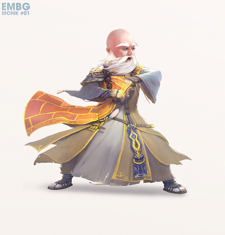 CHARACTER DESIGN - Monk Suco
