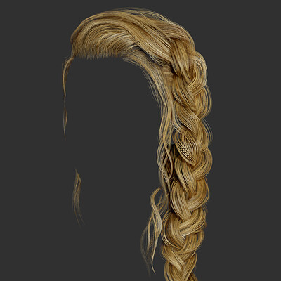 Long female loose braid hair
