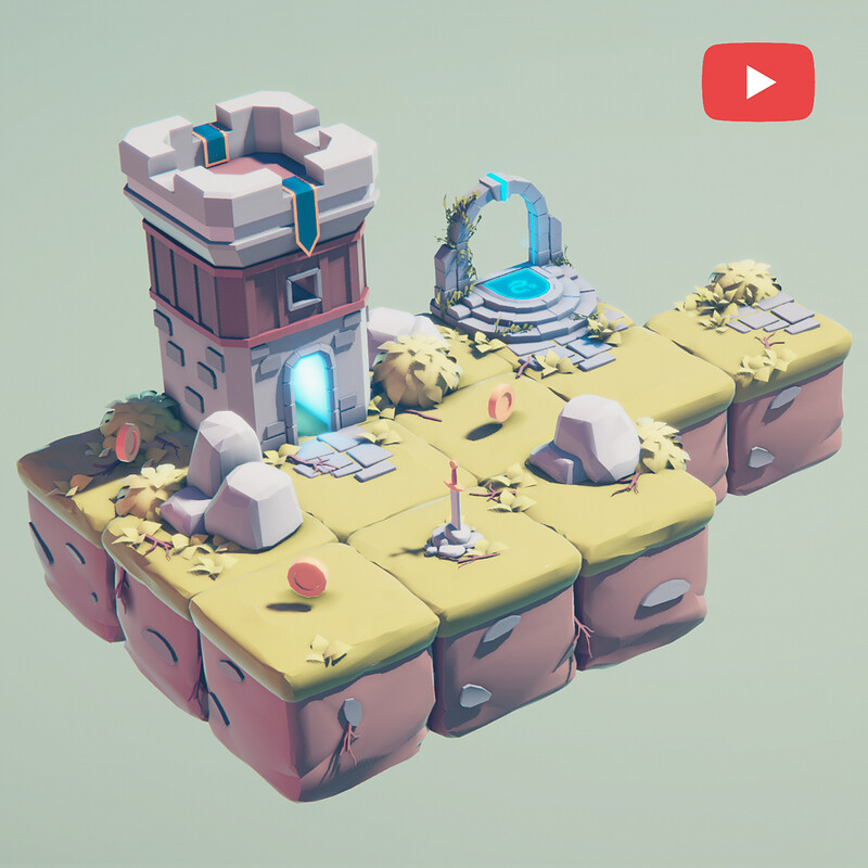 Low Poly Style - Blender & Unity 3d Game Art Creation | 3d low poly game art | Youtube Video