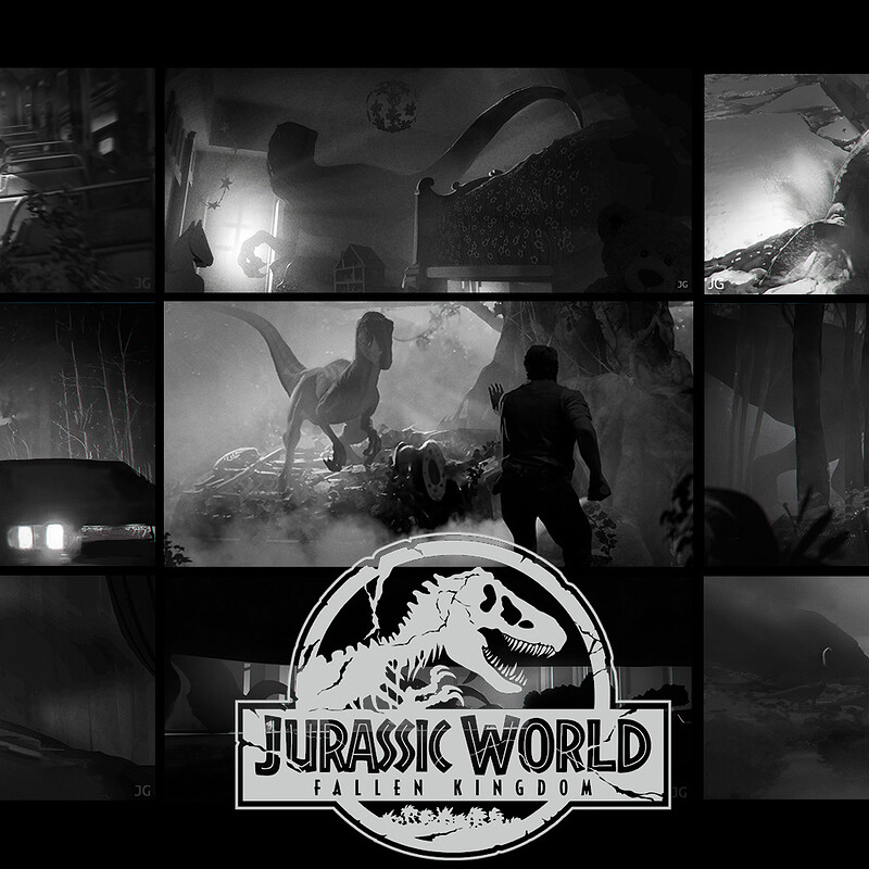 Jurassic World: Fallen Kingdom - Story beats sketches