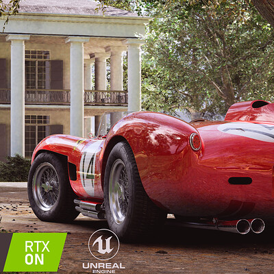 Unreal Engine - 250 Testarossa at Oak Alley Plantation