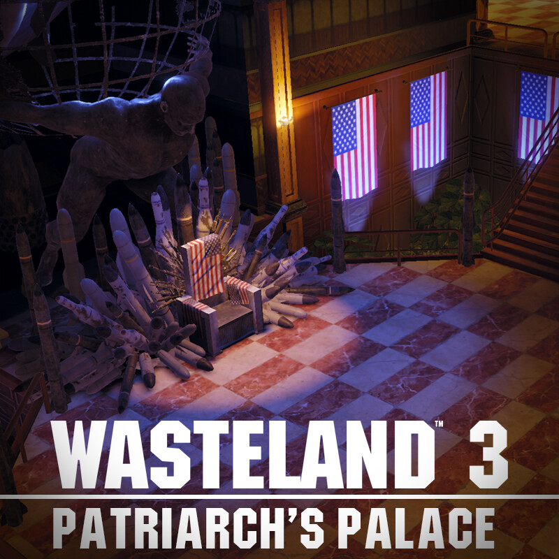 Wasteland 3 Environment Art - Patriarch's Palace