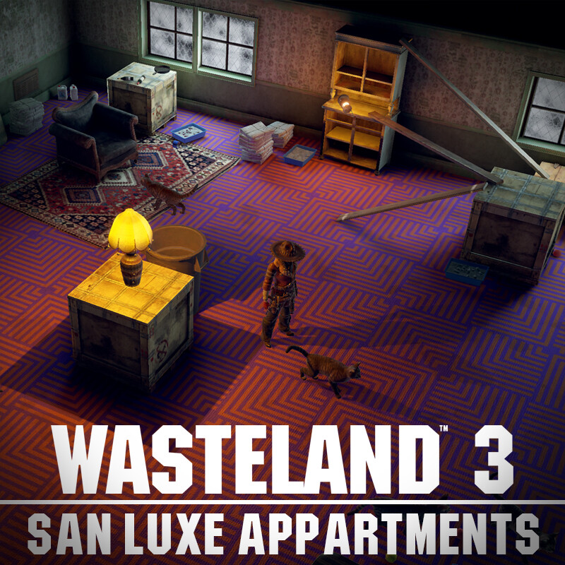 Wasteland 3 Environment Art - San Luxe Apartments