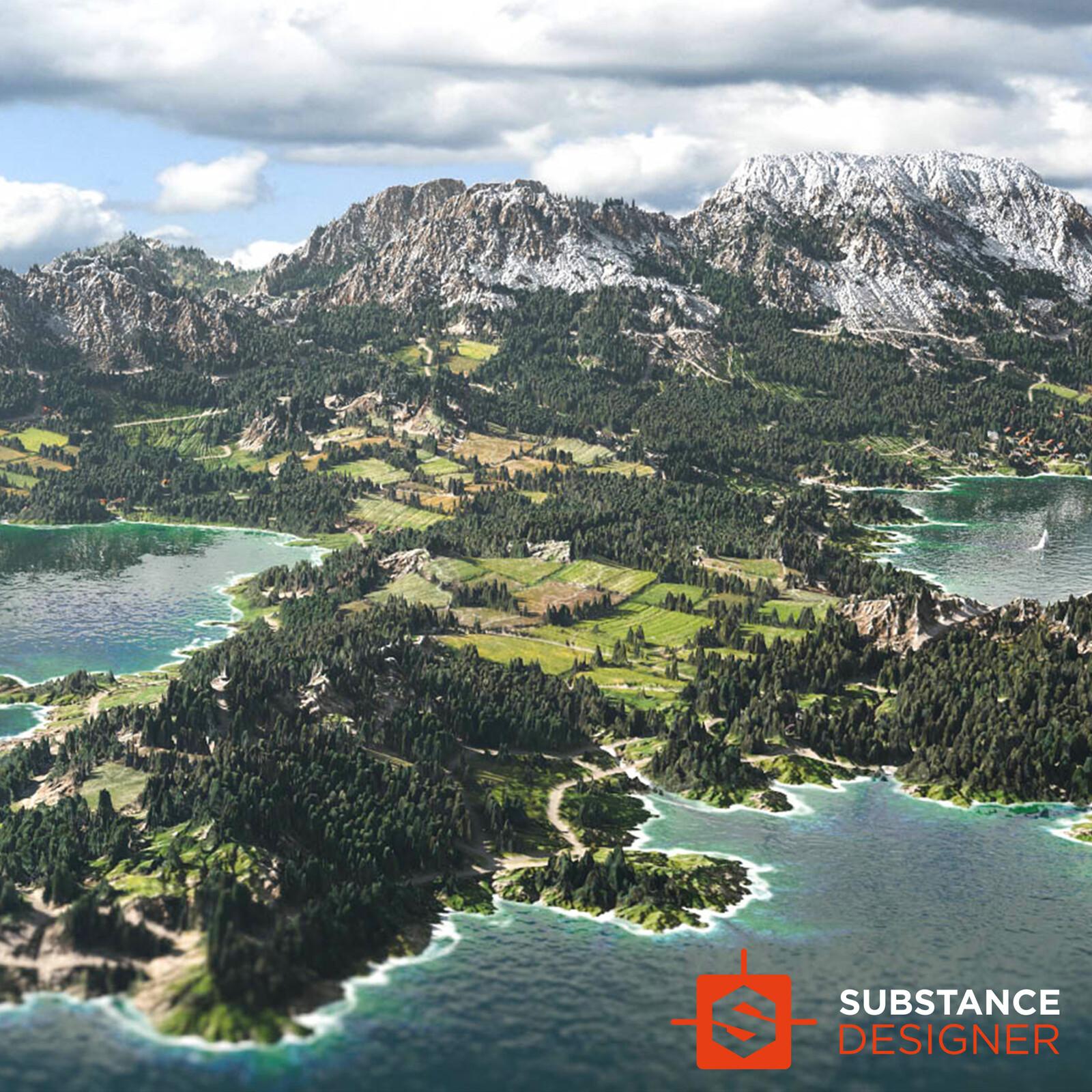 Alpine Material - 100% Substance Designer
