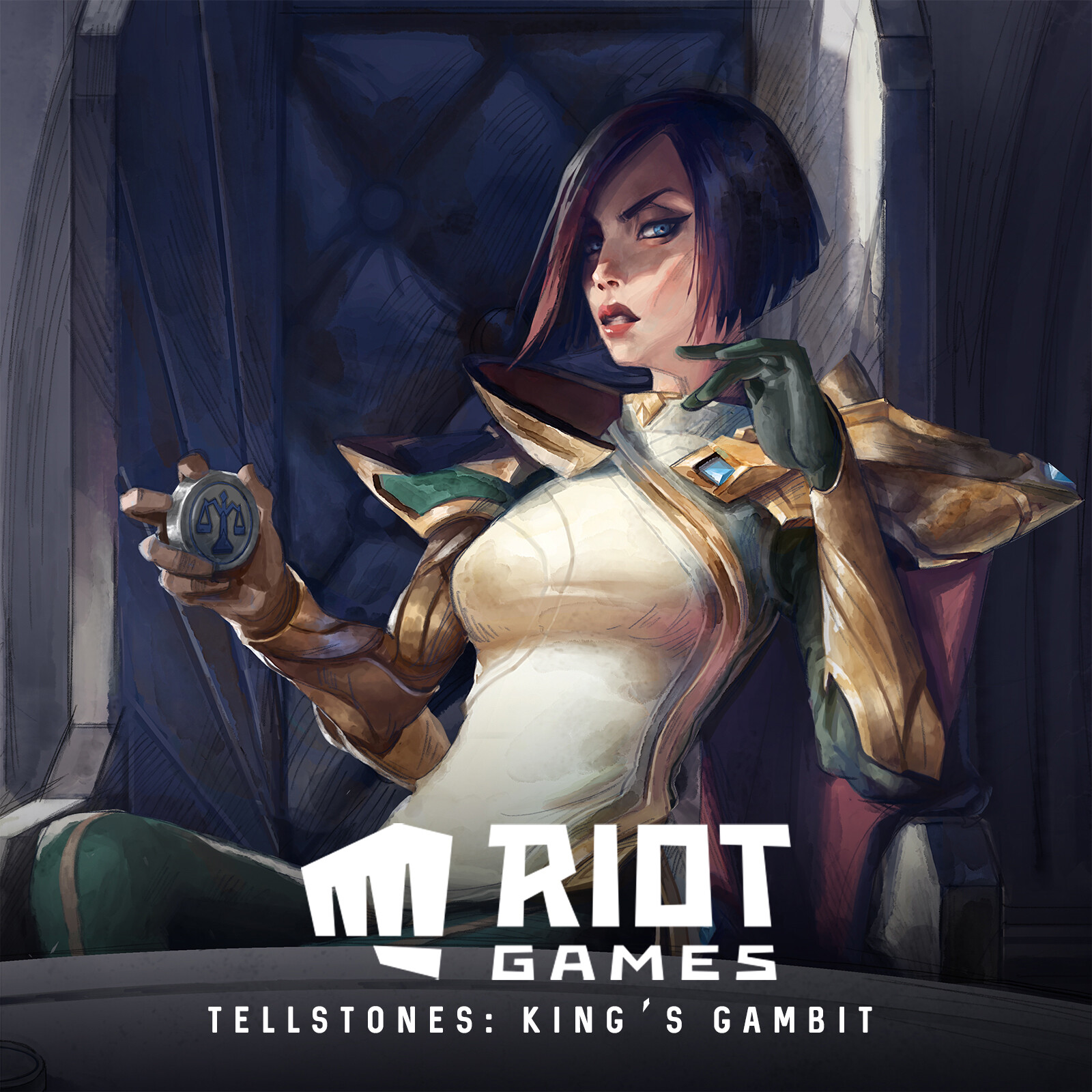 Illustrations for Tellstones: King's Gambit | Riot Games