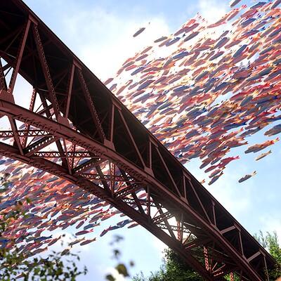 A Summer Fantasy: Koinobori Swarm over Kurobe Gorge