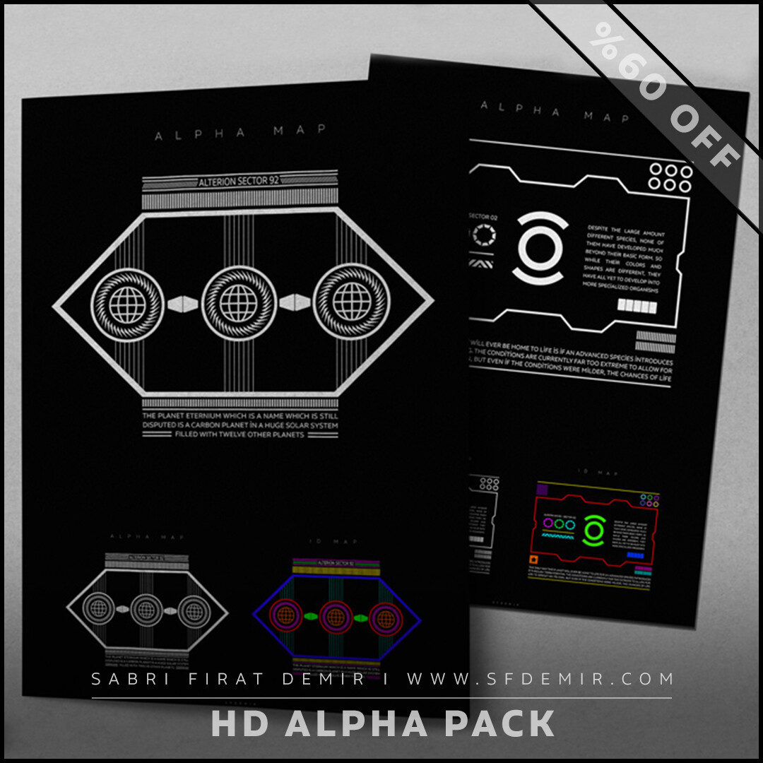 High Detailed Sci-Fi Alpha Pack