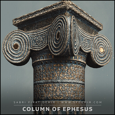 Column Of Ephesus - Low Poly PBR 3D Model