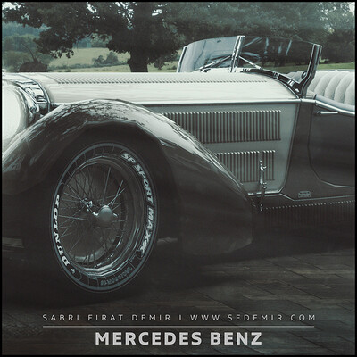 Antique Mercedes Benz Concept Scene