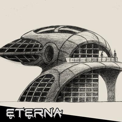 Tomasz pioszyk tomasz pioszyk futuristic building sketches thumbnail