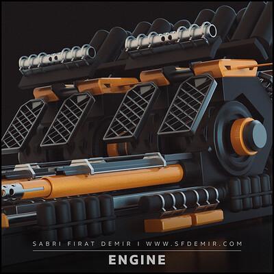 Sci-Fi Engine 3D Model