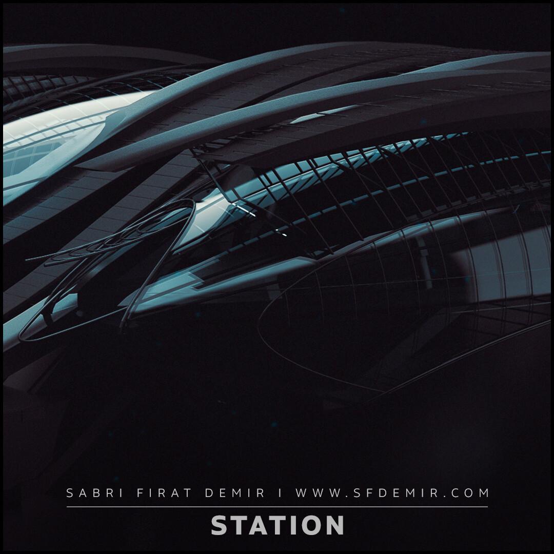 Sci-Fi Metro Station Scene