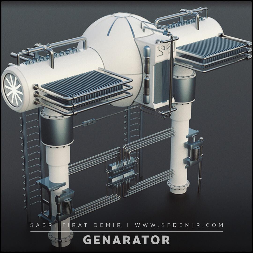 Sci-Fi Generator 3D Model