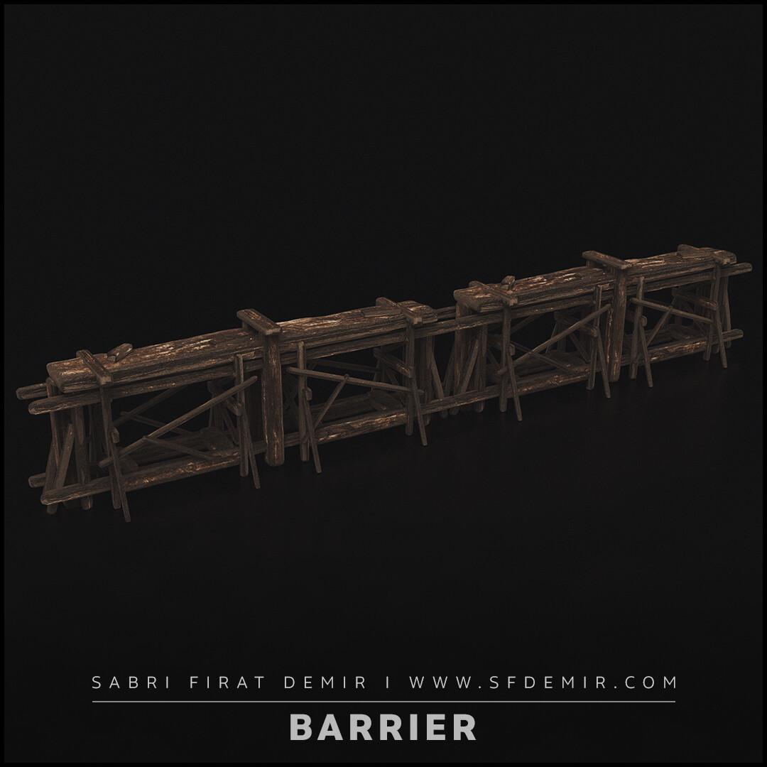 Wooden Barrier