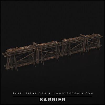 Wooden Barrier