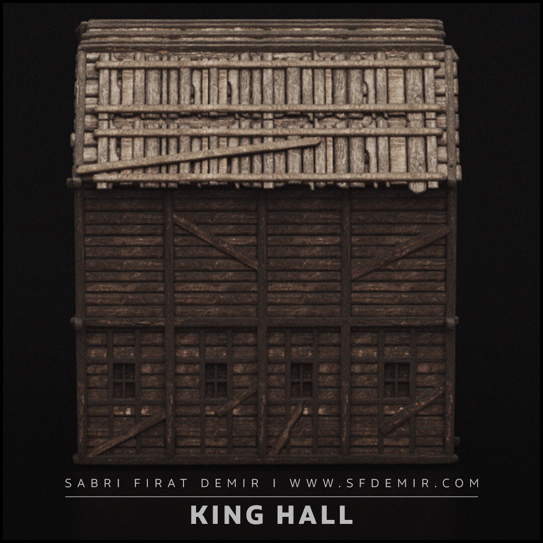 King Hall Building 3D Model
