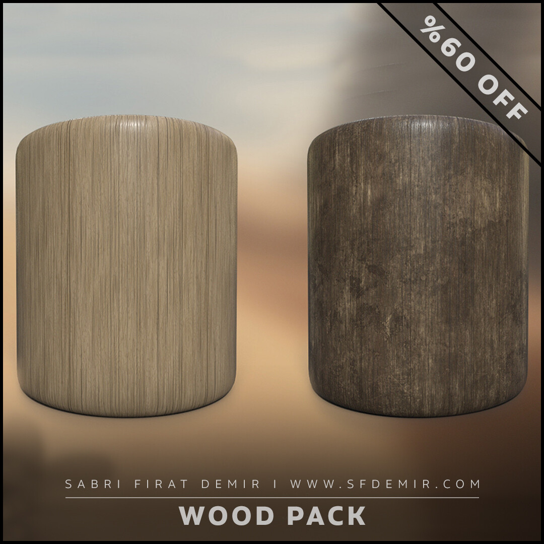 4 PBR Wood Material