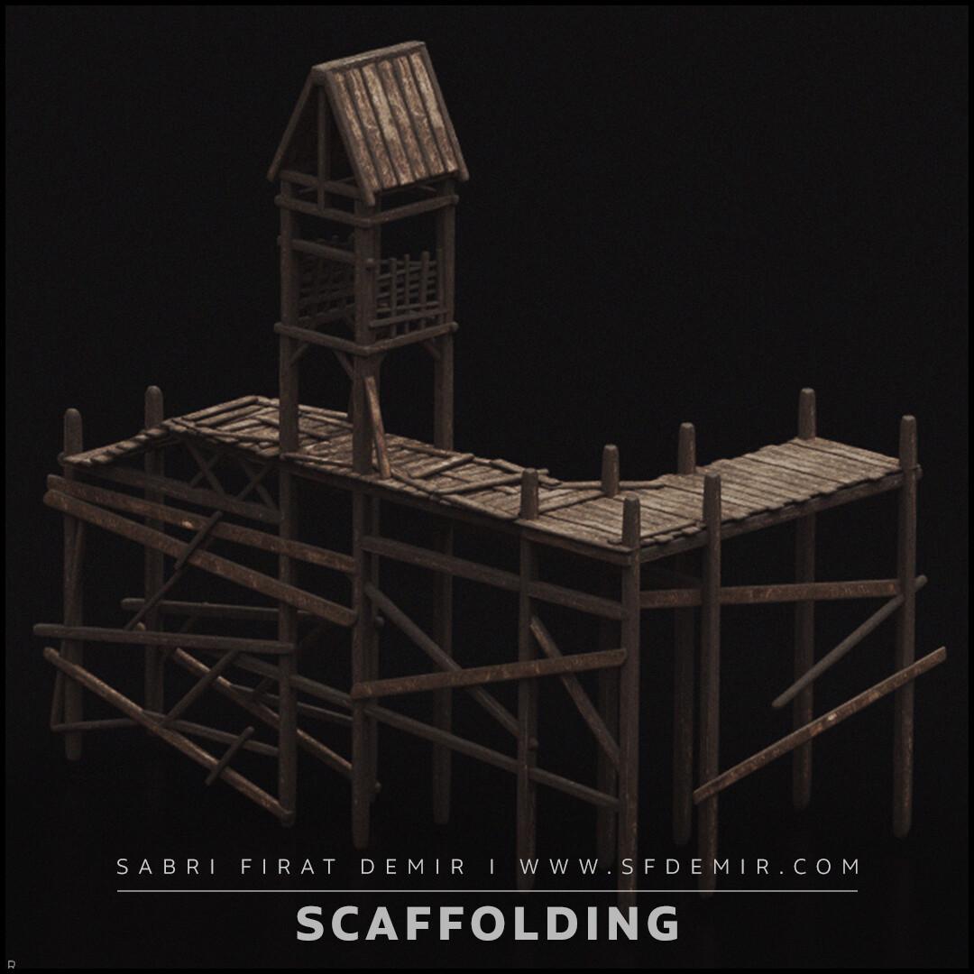 Medieval Wooden Dock 3D Model
