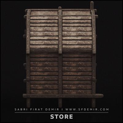 Medieval Store Building 3D Model