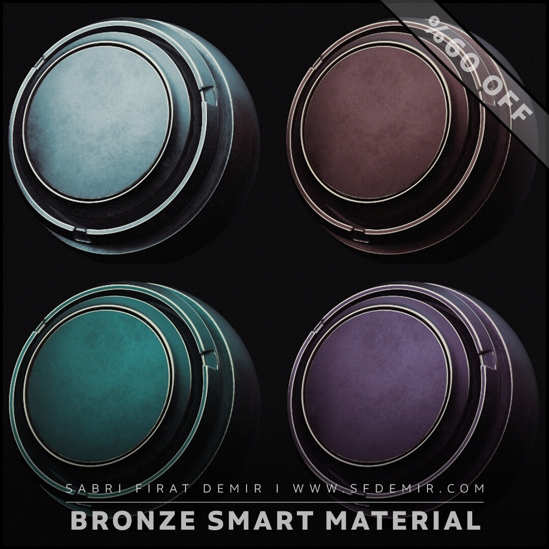 4 Clean Bronze Smart Material Pack