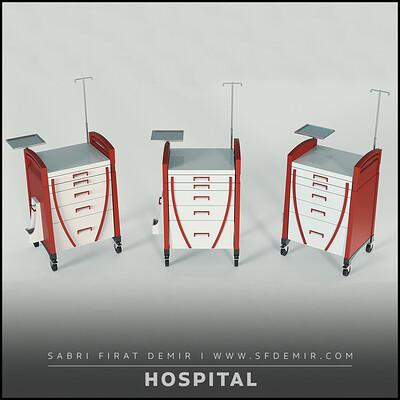 Hospital Desk 3D Model